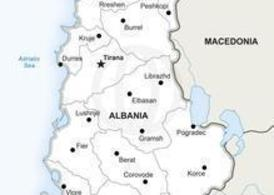 Free Vector Map of Albania