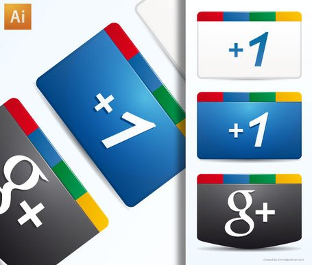 Google Plus gratis icono Vector Ai