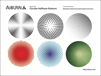 Circular Halftone Patterns
