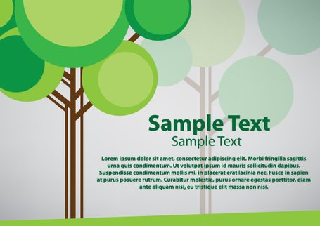 Árbol verde Vector Background (gratis)