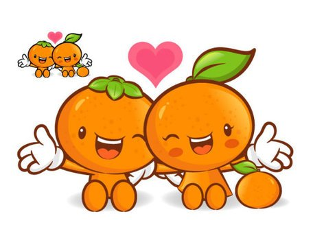 Love the cartoon super fruit Vector 1