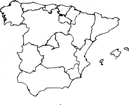 Map Of Spain Vector Free.Free Map Of Spain Clipart And Vector Graphics Clipart Me