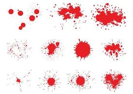 Splattered Blood Graphics Set