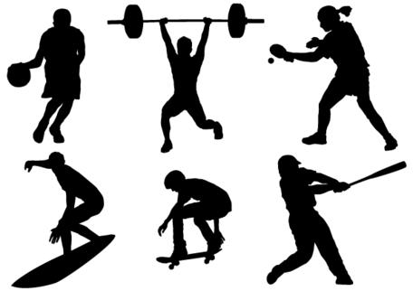 Sport Silhouettes Vector Free