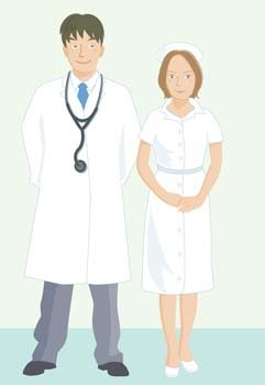 Medical person vector 8