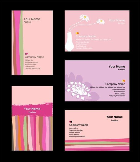 Pink Card Background