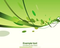 Green abstract ribbons header