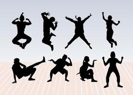 Dance Pose Silhouettes