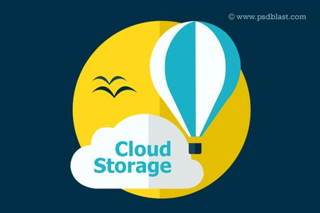 Piatto di Cloud Storage icona (PSD)