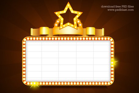 showtime signs template psd vector graphic   clipart me