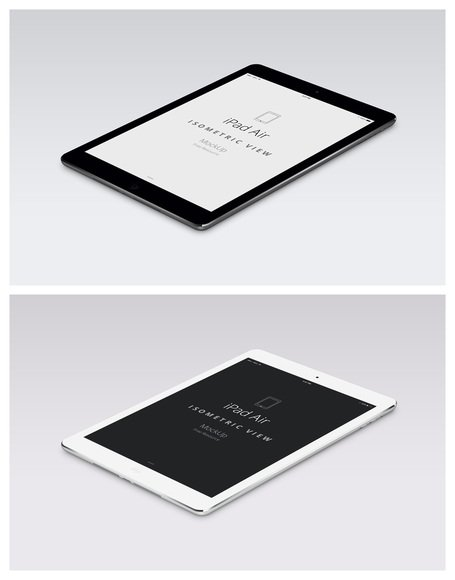 PSD iPad Air perspectief Mockup