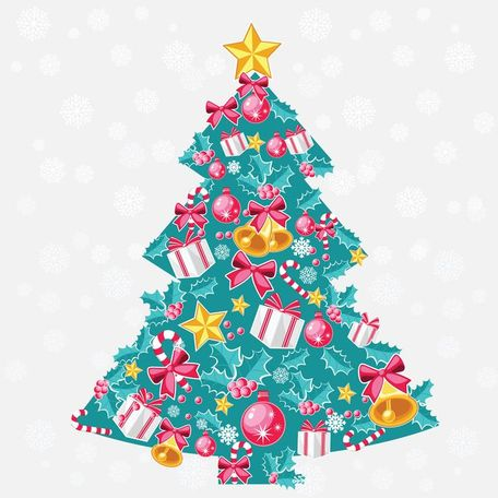 Abstracte Christmas Tree Vector kunst