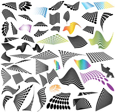 50 Abstract Halftone Design Elements Free
