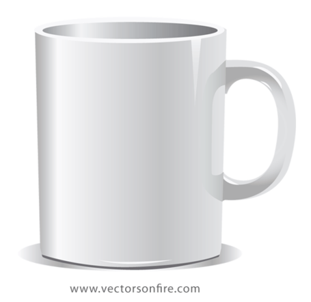 white coffee mug vector graphic. Black Bedroom Furniture Sets. Home Design Ideas