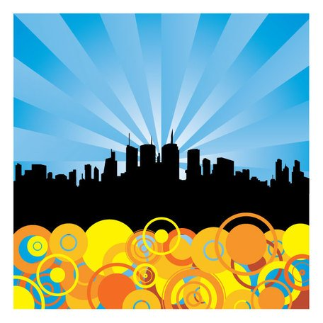 ABSTRACT città VECTOR BACKGROUND.eps