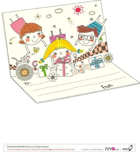 Korea Cute Line Drawing Vector 1 Family