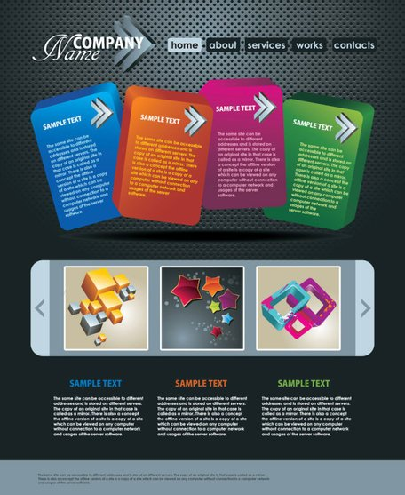 The trend of dynamic website templates 06