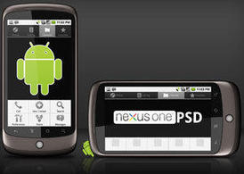 谷歌 Nexus One 範本 PSD