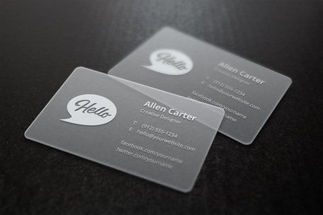 Translucent Business Cards MockUp