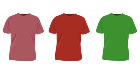 T-Shirt 4 Color Vorlagen