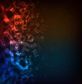 Dark Abstract Alphabetic Background