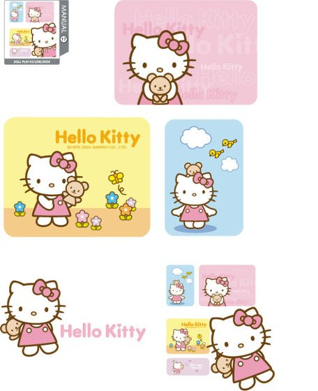 hello kitty resmi vektör 17