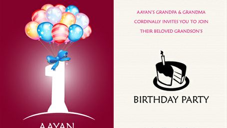 Carte d'Invitation 1er anniversaire