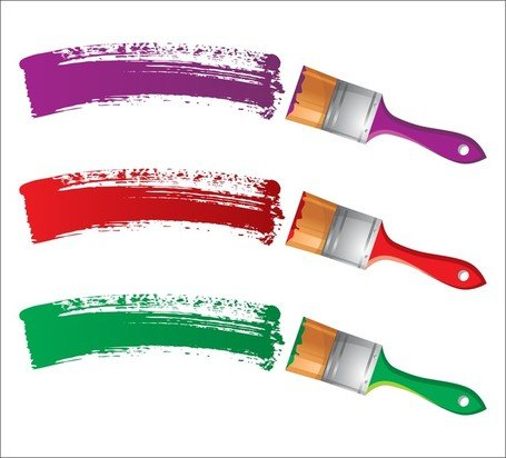 Different Colors Of Paint Brush 04