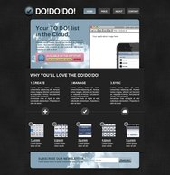Web & iPhone app lay-out