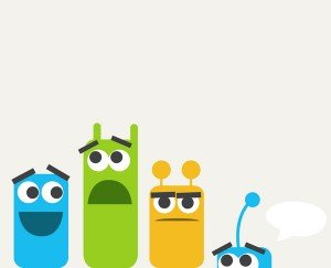 Free Vector Cute Colorful Monsters