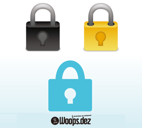 Lock Icon Gratis Vector Set