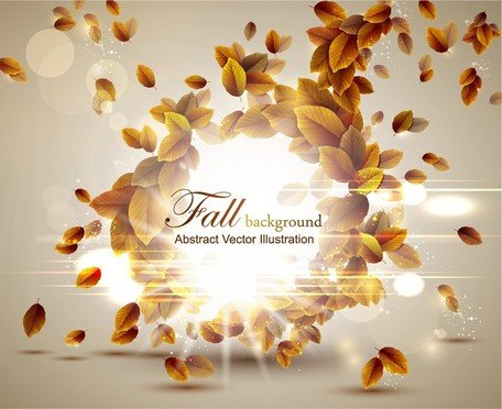 Autumn Leaves Vector 5 grafisch ontwerp