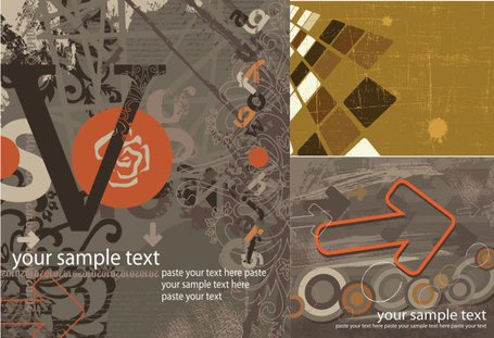 Vector retro style background material flow