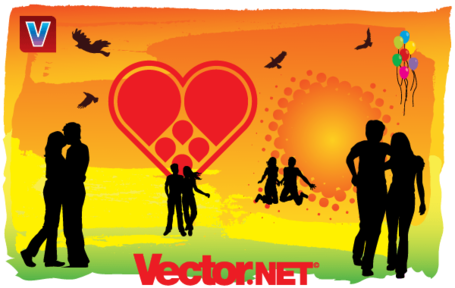 "u"""""": uLove is in the Air"" Vector Art"