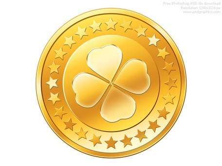 PSD gold coin icon