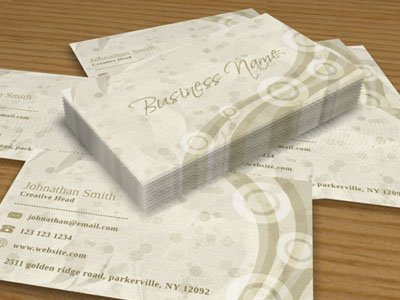 Unique Paper Business Card
