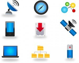 Stock Multimedia Vector iconen