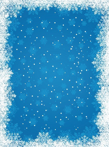 Blue Snowflake Background