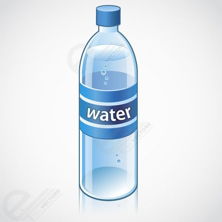 Water bottle vector object free download