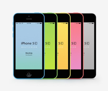 iPhone 5C Psd wektor makieta