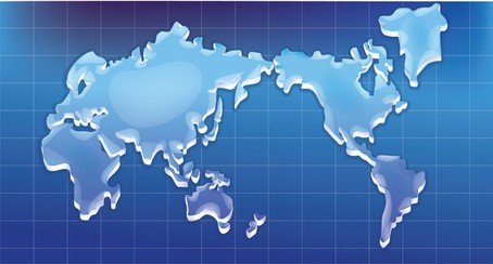 Crystal Texture Of The World Map