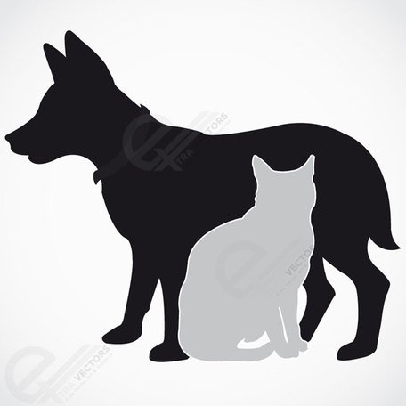 Dog and Cat Silhouette. Free vector download