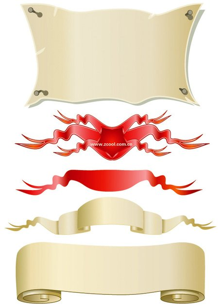 Banner Vector material paper streamers