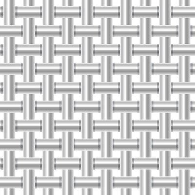 Background Pattern tubo metallico argento