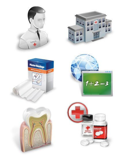 Hospital, pharmacy, plaster, virtual course