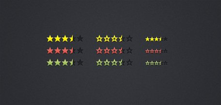 Review & Rating Stars... (PSD)