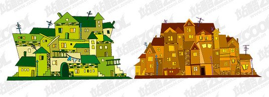 Vector Illustration of house material