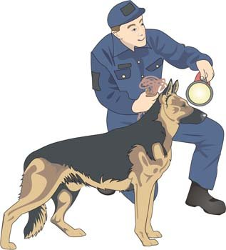 Boy and dog vector 2
