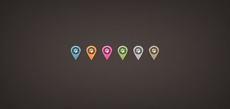 Map Location Pins (PSD)