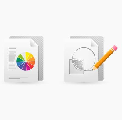 Drawing and Print Document Icons